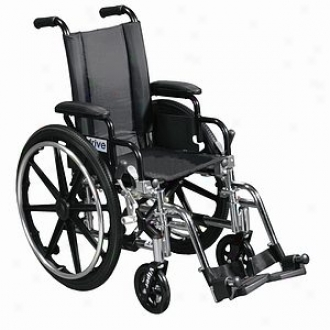 Viper 14  Wheelchair Flip Back Removable Desk Arms; Front Rigging: Swingaway Footrest