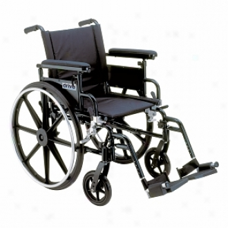 Viper Wheelchair With Flip Back Adjustable Height Arms With Various Front Rigging 22