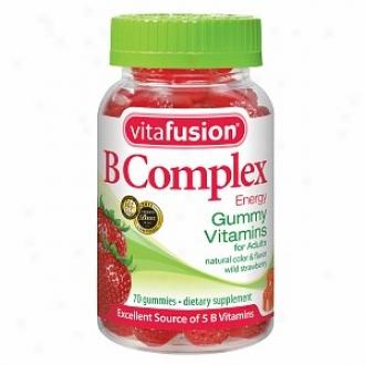 Vitafusion B Complex Energy Gummy Vitamins, Wildd Strawberry