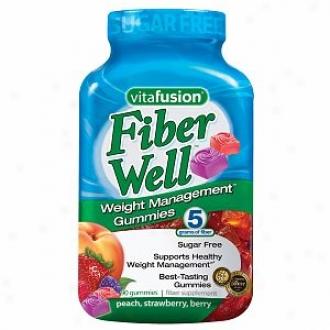 Vitafusion Fiberwell Weight Management Gummies, Peach, Strawberry & Berry