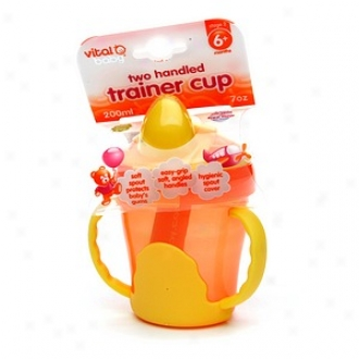 Vltal Baby Two Handled Trainer Cup (7 Oz), 6 Months+, Orange