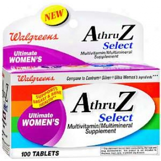 Walgreens A Thru Z Select Ultimate Women's Multivitamin/multimimeral Supplement Tablets