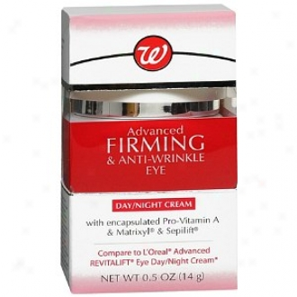 Walgreens Advanced Firming & Anti-wrinkle Eye Day/night Creaj