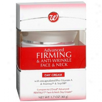 Walgreens Advanced Firming & Anti-wrinkle Face & Neck Day Cream
