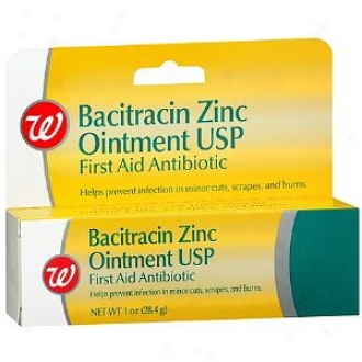 Walgreens Bacitracin Zinc Ointment Usp First Aid Antibiotic