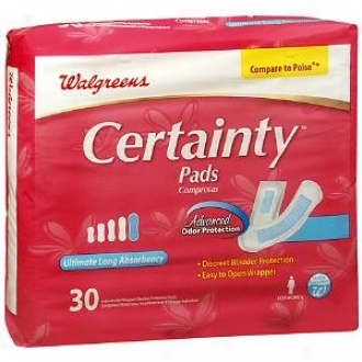 Walgreens Certainty Bladder Protection Pads For Women, Ultimate Long Absorbency
