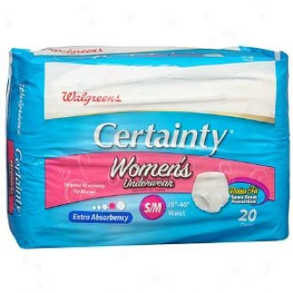 Walgreens Certainty Women's Underwear, Extra Absorbency, Small/medium