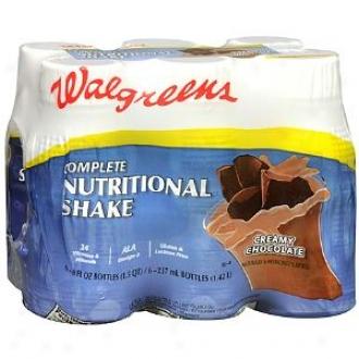 Walgreens Complete Nutritional Shake 6 Pack, Creamy Chocolate