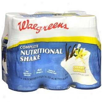 Walgreens Complete Nutritional Shake 6 Pack, Creamy Vanilla