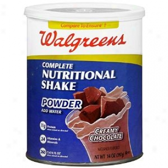 Walgreens Complete Nutritional Shake Powder, Creamy Chocolate
