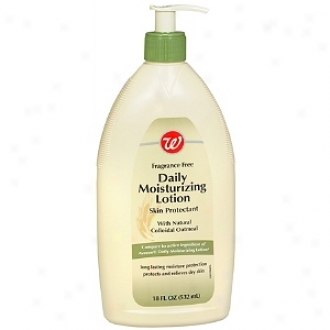 Walgreens Dail yMoisturizing Lotion With Illegitimate Collodial Oatmeal, Fragrance Free