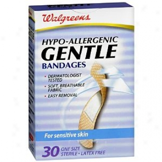 Walgreens Gentle Hypo-allergenic Bandages For Sensitive Skin