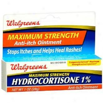 Walgreens Maximum Strength Hydrocortisone 1 Anti-itch Ointment
