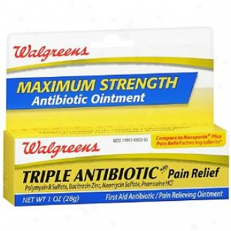 Walgreens Maximum Strength Triple Antibiotic Ointment In the opinion of Pain Reief