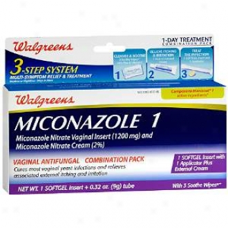 Walgreenw Miconazole 1 Vaginal Antifungal Cokbination Gang