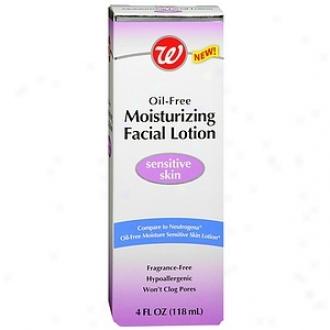 Walgreens Oil-free Moisturkzing Facial Lotion Sensitive Skin