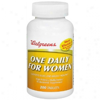 Walgreens One Daily For Women High Potency Multivitamin/multimineral Suplpement Tablets