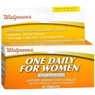 Walgreens One Daily For Women Multivitamin/multimineral Supppement Tzblets