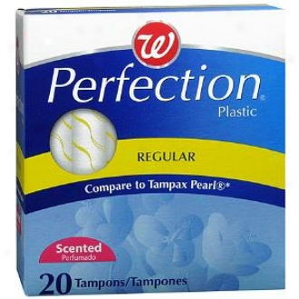 Walgreens Perfection Tampons Plastic Appkicator Scented, Regular, 20 Ea