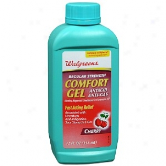 Walfreens Regular Strength Comfort Gel Antacid & Anti-gas Oral Suspension, Cherry
