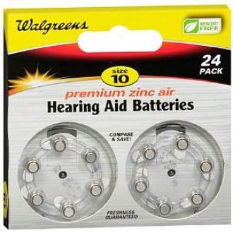 Walgreens Size 10 Premium Zinc Air Hearing Aid Batteries 24 Pack