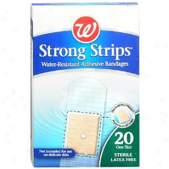 Walgreens Strong Strips Water-resistant Adhesive Bandages, 1 Inch
