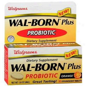 Walgreens Wal-born Plus Probiotic Effervescent Tablets, Orange
