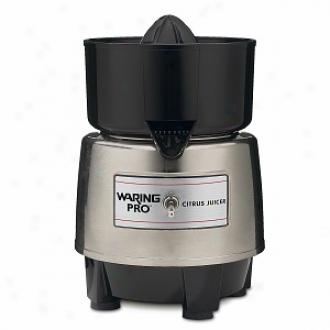 Waring Pro Pcj218 Professional Citrus Juicer, Stainless/black