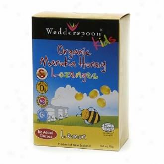 Wedderspoon Kids Organic Manuka Active 15+ Lozenges, Lemon