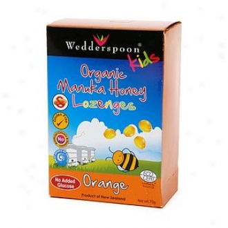 Weddersppoon Kids Organic Manuka Active 15+ Lozenges, Orange