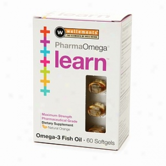 Wellements Pharmaomega Learn Omega-3 Fish Oil Softgels, Natural Orange