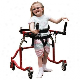Wenzelite Luminator Gait Trainer With Posterior Choice Pediatric Red, Pediaric