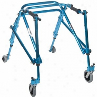 Wenzelite Nimbo Rehab Lightweight Posterior Posture Walker Youth Cornflower Blue, Youth