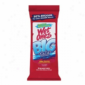 Wet Ones Big Ones AntibacterialH and And Face Wipes, Fresh