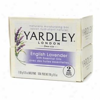 Yardley Of London Naturally Moisturizing Bar Soa;, English Lavende