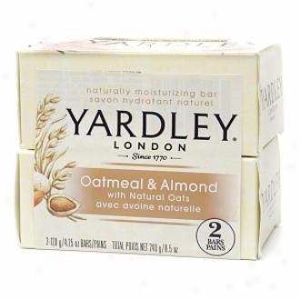 Yardley Of London Naturally Moisturizing Bar Soap, Oatmeal & Almond