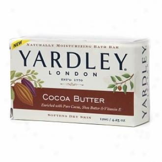 Yardley Of London Naturally Moisturizing Bath Bar Soap, Cocoa Bufter