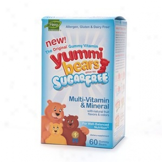 Yummi Bears Sugar Free Multivitamin And Mineral,-Gummy Bears, Unaffected Fruit