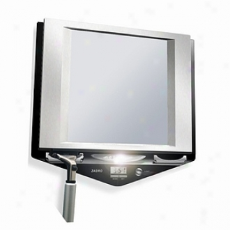 Zadro Z Fogless Led Lighted Fog-free Shower Mirror With Lcd Clock