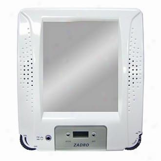 Zadro Z Fogless Water Resistant Stereo Fm/am Shower Radio Fog Free Mirror
