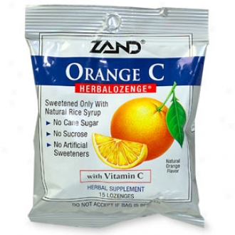 Zand Herbalozenge Supplemment, Orange/vitamin C