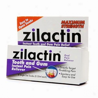 Zilactin Tooth And Gum Instant Pain Reliever, Maximum Spirit