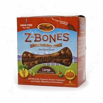 Zuke's Z-bones,  Natural Edible Dental Chews, Large Bones, Clean Carrot Crunch