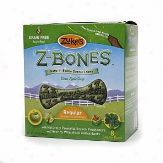 Zuke's Z-bones,  Original Edible Dental Chews, Regular Bones, Clean Apple Crisp